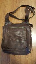 RETRO Fossil Handbag 2 strap Shoulder Bag Pebble Leather Purse Brown satchel :D