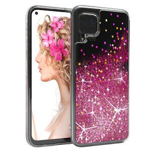 For Huawei P40 Lite / Nova 7i Cover Liquid Glitter cover Protection Phone Pink