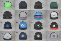New Quiksilver Men's Foam Mesh Back Trucker Hat Flat Bill Adjustable Cap OSFM