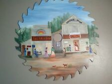 """Folk Art Hand Painted 11 1/2"""" Saw Blade Artist Signed by Maude Grisby"""