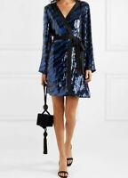 RIXO London Maria mini wrap dress