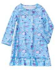 NWT Gymboree Catastic Blue Candy Sweet Dreams Bunny LS Nightgown Gown Xs 3 4