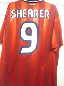 England 1997-1999 Away Shearer 9 Football Shirt Size Large /44960