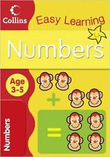 Collins Easy Learning - Numbers: Age 3-5, New, Carol Medcalf Book