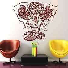 Wall Decal Elephant Mandala Yoga Decals  Mural  Bedroom Decor Vinyl Sticker Al18
