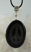 Onyx Con Paz - Signo Colgante Hecho a mano SUPERIOR de piedras preciosas N2