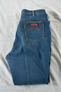 Vintage Braxton Women's Medium Wash Denim Stretch Jeans Plus Size 36
