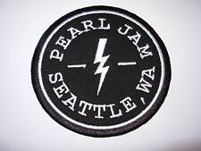 PEARL JAM Patch SEATTLE LIGHTNING New 3.5 inch from bolt tour cd lp