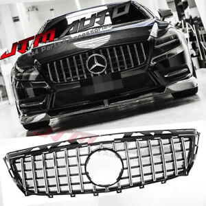 Chrome Black GT Style Grill Grille to suit Mercedes Benz CLS W218 C218 2011-2014