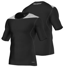 Adidas Tech-Fit Base Short Sleeve Mens Compression Top - Black Techfit Climalite