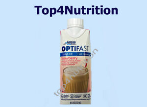 OPTIFAST 800 READY-TO-DRINK SHAKES - STRAWBERRY - 24 SERVINGS - NEW & FRESH