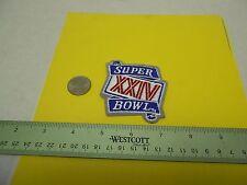 """1990 Super Bowl XXIV patch 49ers vs Denver Broncos 2 75"""""""