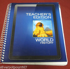 NEW Pearson World History Teacher's Edition Grade 11