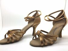Chaussure de danse de salon pour femme:diamant couleur:bronze taille: 40