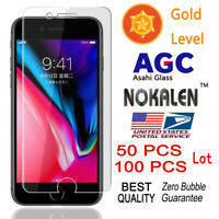 100x Wholesale Lot Tempered Glass Screen Protector for iPhone 6 7 Plus 6s 8 Plus