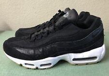 Nike Air Max 95 Premium Exotic Skin Black Dark Grey White Gum Mens Sz 10.5