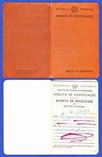 IDENTITY CARD /  BILHETE DE IDENTIDADE / CARTE D'IDENTITÉ - PORTUGAL . 1962
