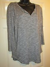GREY WHITE CASUAL LONG SLEEVED TOP - PLUS Size 18
