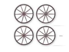 Rueda Set (4) Tablero de MESA ART Base diseño Terrenos 28mm madera Cart Wheel