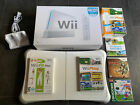Nintendo Wii Sports Console Bundle Fit Balance Board Play Plus Remote Charger