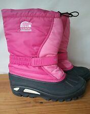 Sorel Winter Boots Pink Black Women's Flurry US Size 6 UK 5 Eur 38