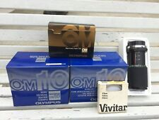 Olympus/Vivitar camera lot. Body, case, lens, Flash, and filter! In boxes!