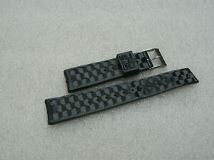 Vintage New Old Stock 20mm Rubber Divers Wristwatch Strap