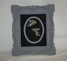 Old Vintage Cameo Creations Cherubs Angel Ornate Wall Art Hanging Miss Conyngham