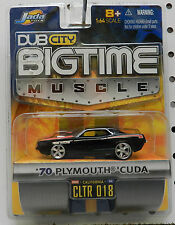 JADA DUB CITY 1970 PLYMOUTH CUDA MOPAR BLACK 426 WAVE 2 BIGTIME MUSCLE 018 2005