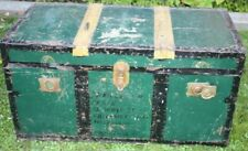 Vintage  Sea Metal Travel Trunk. Travel Nostalgia Francesco Family