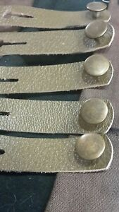 5x bronze button army green vest extenders #97