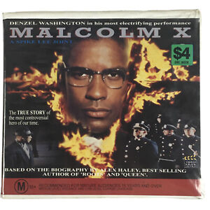 Malcolm X Denzel Washington Twin Pack Double VHS Video Tape Clamshell Case