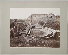 2 VINTAGE 8 X 10 ALBUMEN PRINTS RUINS OF ANCIENT ROME AND POMPEII ITALY