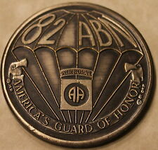 82nd Airborne America's Guard 30th Convention Serial #170 Army Challenge Coin