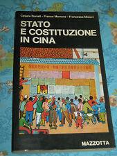 STATO E COSTITUZIONE IN CINA di C. DONATI  F. MARRONE  F. MISIANI