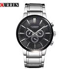 Curren 8001A-2-Silver/Black/Black Stainless Steel Watch