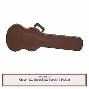 Gator Cases Deluxe Brown Wood Case for Gibson SG Special, SG Special 3 Pickup