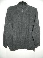 WJA2800 Karen Scott Women's Plus Black Cable Knit Mock Neck Sweater NWT Size 3X