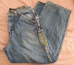 Billabong Size 34 Vintage Carpenter Skater Jeans Wide Leg 90s