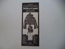advertising Pubblicità 1979 PELLICCE CANALI
