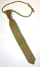 Perlenschlips Perlenkrawatte gold Kette Schlips Krawatte Halsband Perlen NEU