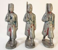 Collectible Toy Soldiers-lot of 3 Vintage Aluminum Toy Soldiers