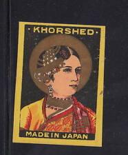 Ancienne   étiquette Allumettes Japon   AAA11061 Khorshed  Femme