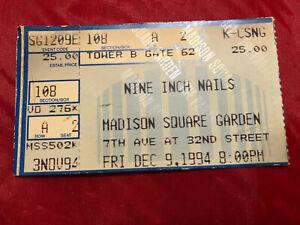 Nine Inch Nails Vintage Concert Ticket Stub MSG NYC Dec 9 1994