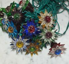 20 Old Matchless glass Stars, christmas tree lights, ca. 1930 (# 11809)