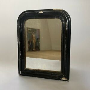Antique French Black Louis Philippe Mirror