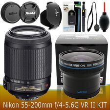 Nikon NIKKOR 55-200mm f/4-5.6G ED VR II Lens Accessory Kit for Nikon DSLR CAMERA