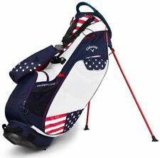 New 2019 Callaway Hyper Lite Hl3 Stand Carry Golf Bag - Navy Red White Usa Flag