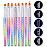 8 Shapes Nail Drawing Brush Painting Flower UV Gel Brush Pen Nail Art DIY Tool