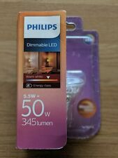 Philips LED GU10 Spot 50w 345 lumen dimmable warm white NEW